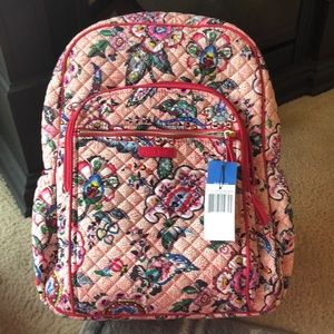 Vera Bradley Campus Backpack Stitched Flowers